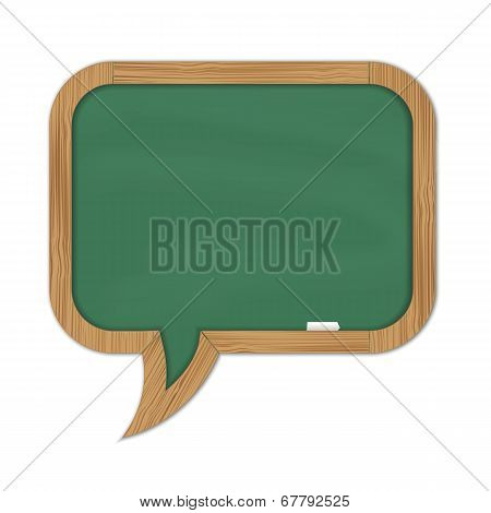 Green Rounded Chalkboard