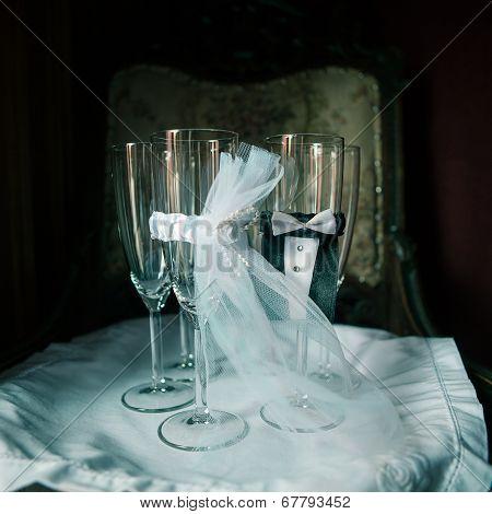 Four Ceremonious Wedding Glasses