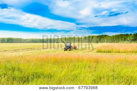 Tractor With A Hay