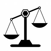 stock photo of magistrate  - Scale icon on white background - JPG
