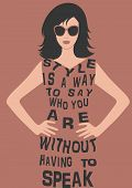 stock photo of boutique  - Fashion Woman silhouette  in dress from Quote - JPG