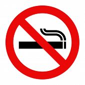 foto of tobacco smoke  - No smoking sign - JPG