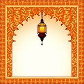 stock photo of eid ka chand mubarak  - easy to edit vector illustration of Eid Mubarak  - JPG