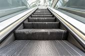 image of escalator  - at the station have several escalators for each peron - JPG