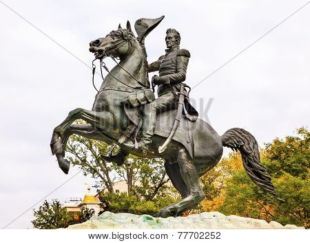 Jackson Statue Lafayette Park Autumn Pennsylvania Ave Washington Dc