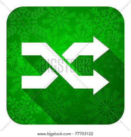 aleatory flat icon, christmas button