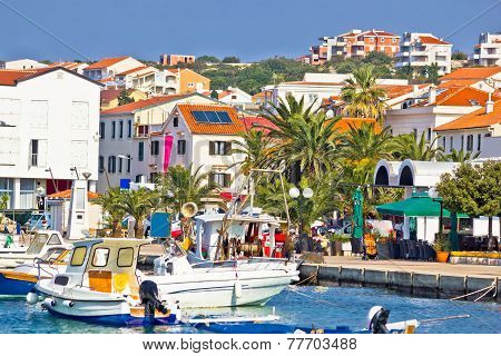 Mediterranean Town Of Novalja Waterfront View