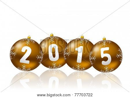 2015 new year illustration with christmas balls