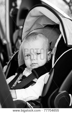 Baby Boy In Car Seat