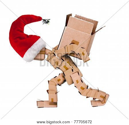 Christmas Character Carrying A Large Box