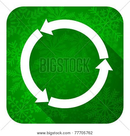refresh flat icon, christmas button, reload flat icon, christmas button