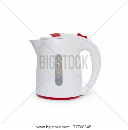 Electric Kettle Isolated On White Background