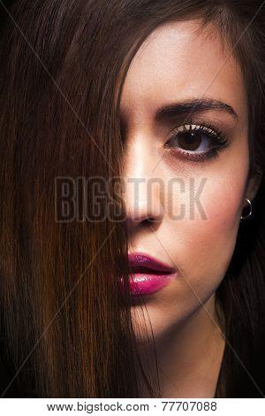 Girl's closeup