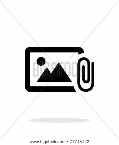 Attach photo icon on white background.