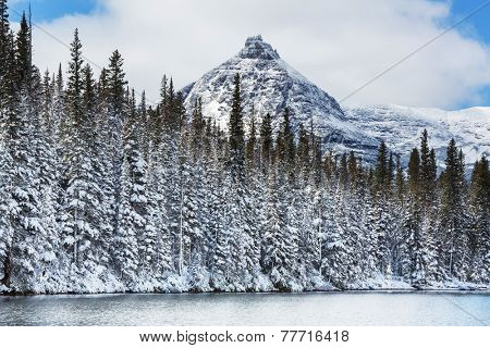 Glacier National Park, Montana. Winter.
