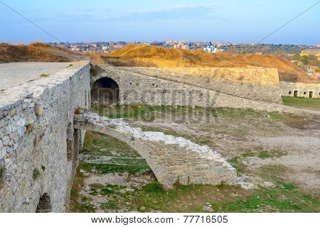 Ruin of New Fortress in the Ancient City of Kamyanets-Podilsky, Ukraine