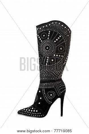 Black Velvet Boot
