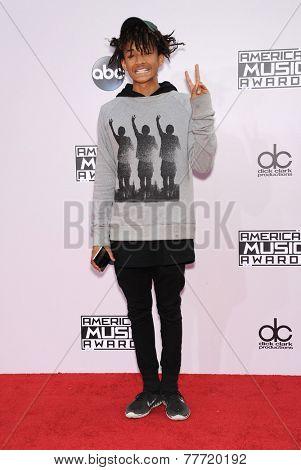 LOS ANGELES - NOV 23:  Jaden Smith arrives to the 2014 American Music Awards on November 23, 2014 in Los Angeles, CA