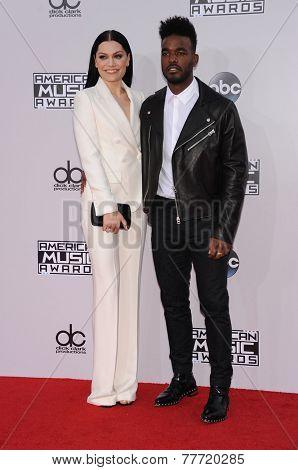 LOS ANGELES - NOV 23:  Jessie J & Luke James arrives to the 2014 American Music Awards on November 23, 2014 in Los Angeles, CA