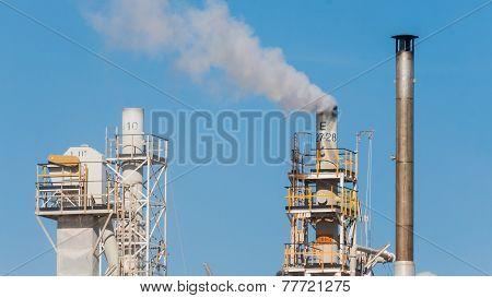 White Smoke In The Blue Sky