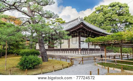 The Kannon-do Hall of Byodo-in Temple in Kyoto Japan