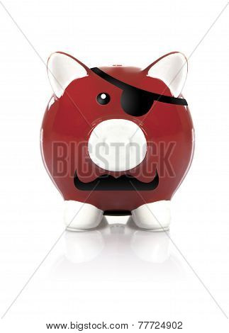 Red Pirate Piggy Bank