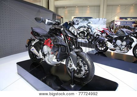 Bangkok - November 28: Agusta Rivale Motorcycle On Display At The Motor Expo 2014 On November 28, 20