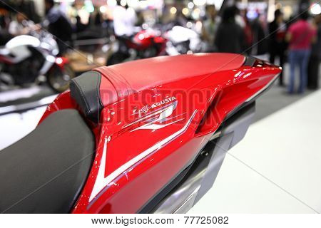 Bangkok - November 28:fiber Frame Of Agusta F4 Motorcycle On Display At The Motor Expo 2014 On Novem