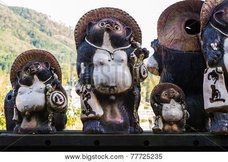 Animal Sculpture Or Japanese Raccoon Dog, Tanuki .