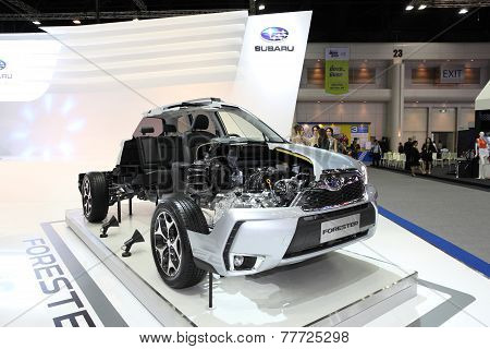Bangkok - November 28: Imgae Inside Of Subaru Forester Car On Display At The Motor Expo 2014 On Nove