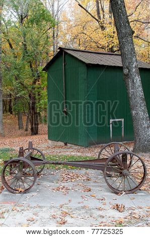 Two Horse Drawn Wagon