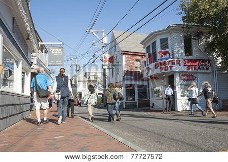 Provincetown street scene.