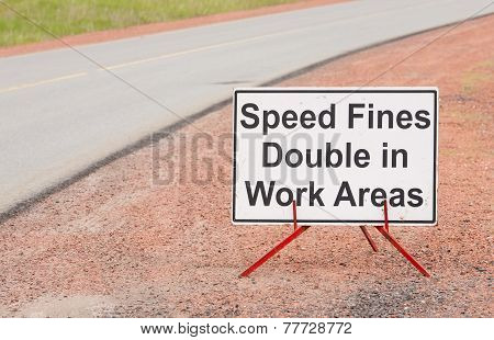 Speed Fine Sign