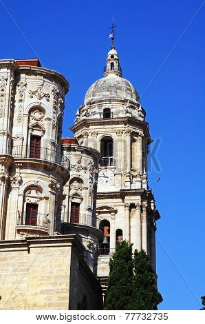 Malaga Cathedral bell tower.