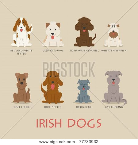 Set Of Irish Dogs