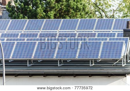 Solar Panels On A Flat Roof
