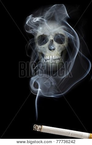 Scull In Smoke