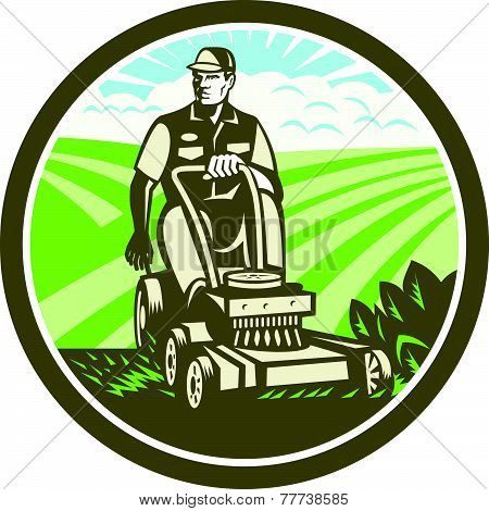 Ride On Lawn Mower Vintage Retro