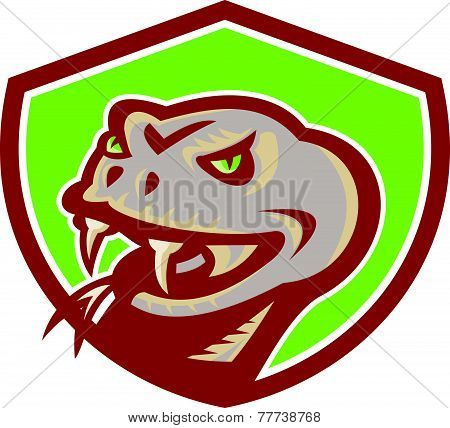Viper Snake Serpent Head Shield Retro