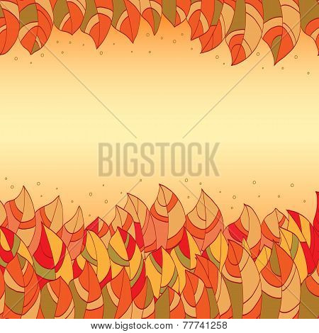 frame of decorative colorful leaves