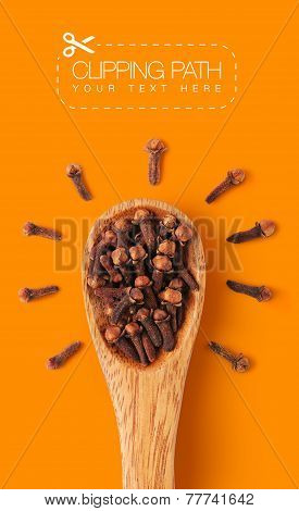 Cloves with clipping path