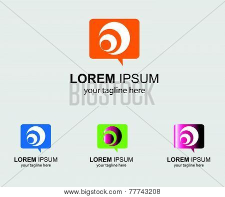 Abstract Sms logo broadcasting vector