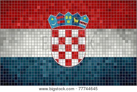 Mosaic Flag of Croatia