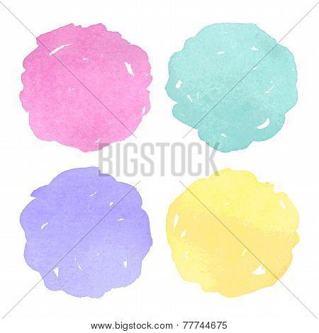 Vector Watercolor Design Elements.