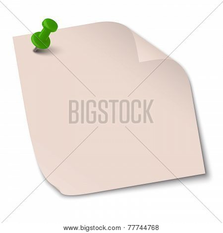 Colored Note With Pin Needle