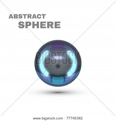 Abstract Sphere. Dark Pearl. Vector