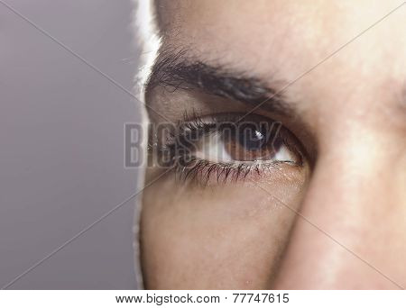 Man Closeup Eye