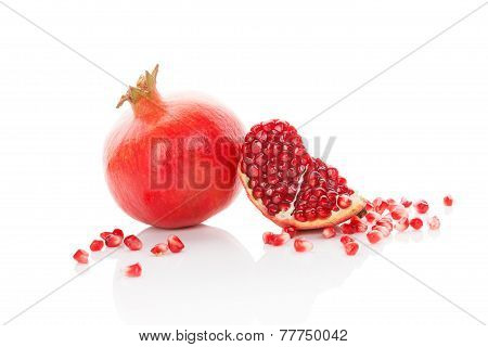 Fresh Ripe Pomegranate.