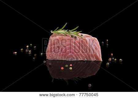 Fresh Tuna Steak. Sashimi Sushi.