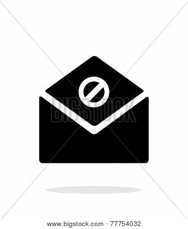 Spam mail icon on white background.